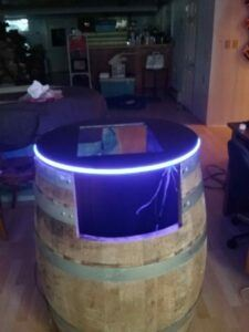 neon barrelcade top for coin operated arcade machine