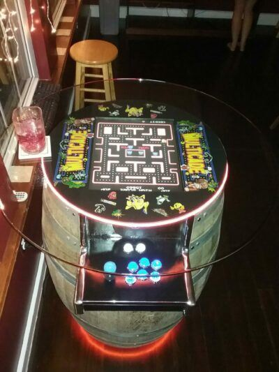completed barrelcade coin operated arcade machine