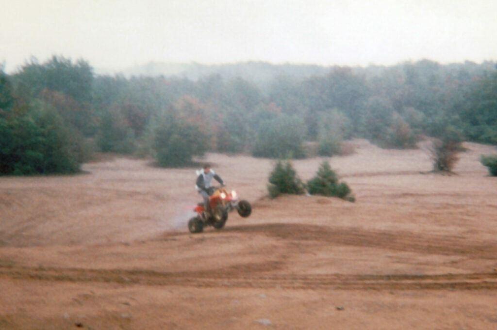 Riding A Wheelie On My 1996 Yamaha Banshee ATV
