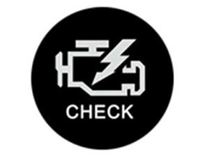 Check engine light of TBI